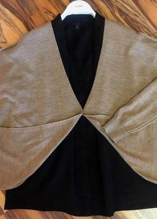 """Меланжевый кардиган """"cos""""-оверсайз из тончайшей шерсти в стиле cаsual"""