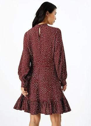 Красивое платье в горошек из креповой вискозы
