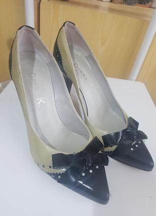 Туфли кожаные vera pelle donna k (италия), 38 размер