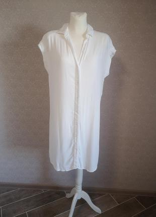 Платье рубашка h&m из вискозы