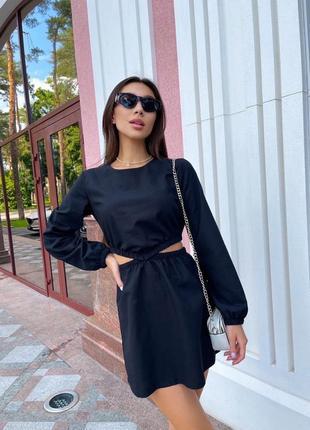 Платье женское, чёрное платье, короткое платье