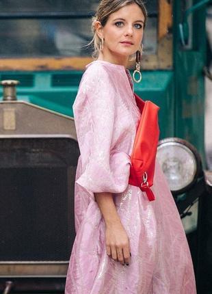 Платье оверсайз из смесового шелка h&m premium collection