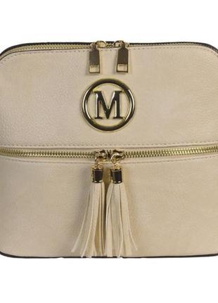 Бежевая женская сумочка-клатч, качественная, приятная