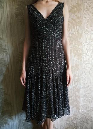 Ted baker шёлковое платье, сарафан, натуральный шелк, нарядное платье