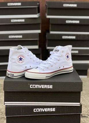 Новые белые кеды converse, конверсы