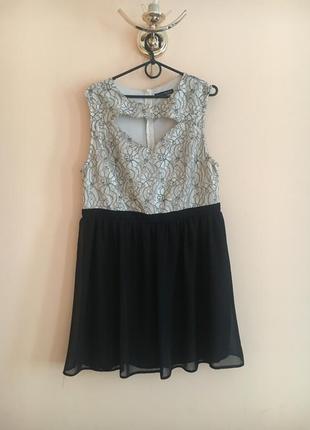 Батал большой размер шикарное нарядное легкое платье платьице плаття сукня