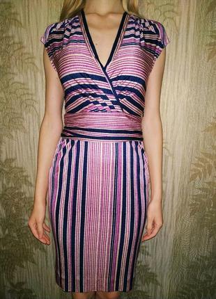 Tory burch платье люкс бренд, шёлковое платье миди, натуральный шелк, оригинал