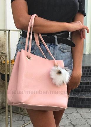 2в1 женская сумка с клатчем пушок в 3х цветах