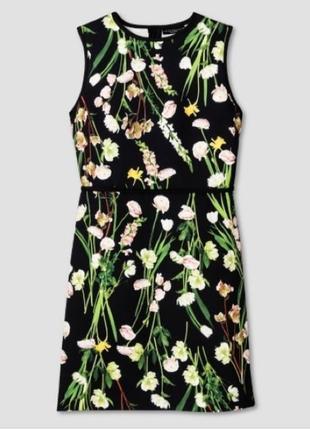 Victoria beckham дизайнерское платье, оригинал, платье миди в цветочный принт, нарядное