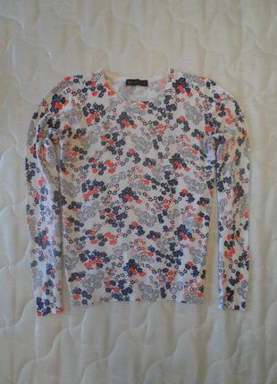 Тонкий свитерок в цветы marks&spenser в размере м