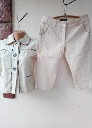 Костюм(двоечка)пиджак+капри