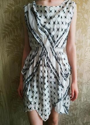 Zara шелковое платье, нарядное платье из лучшего шелка малберри, mulberry silk