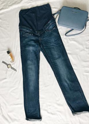 Джинсы для беременных синие h&m , размер 8, s