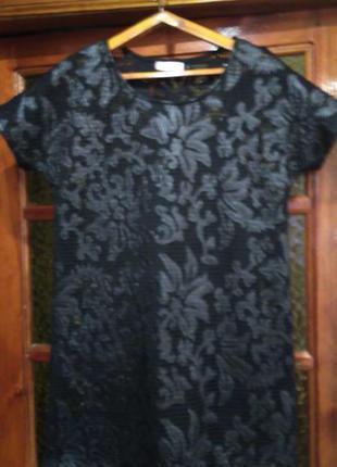 Красивое платье- сетка,с чехлом,кожа+ сетка.