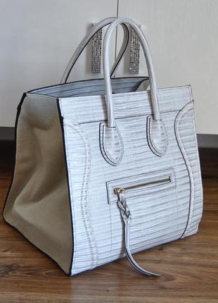 Кожаная сумка тоут / шкіряна сумка