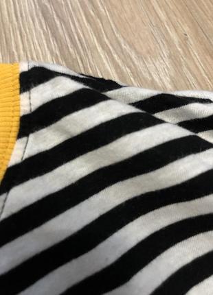 Хлопковый лонгслив в полоску полосатый чёрен белый лонг свитшот реглан h&m5 фото