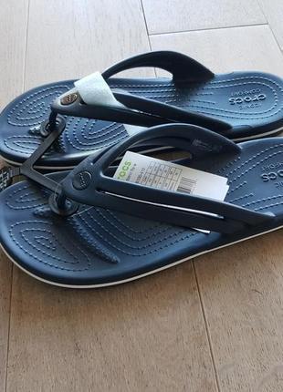 Шлепки вьетнамки crocs crocband flip,  оригинал