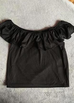 Летняя майка на плечи/открытый кроп-топ/футболка/топик/divided h&m s