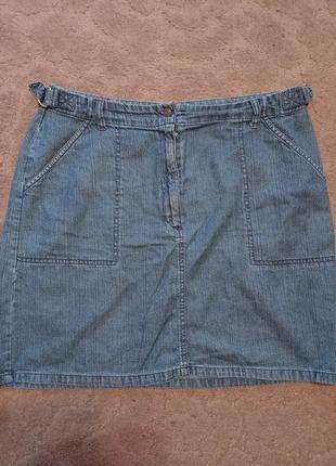 Джинсовая юбка большого размера на шикарные формы