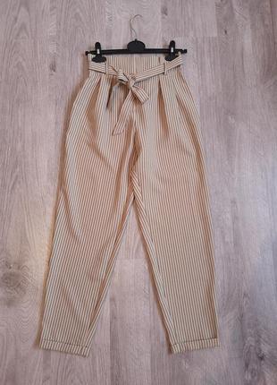 Стильные брюки в полоску на талии от primark4 фото