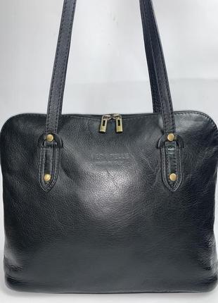 Италия! кожаная  фирменная сумка на плечо vera pelle.