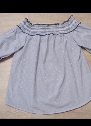 Актуальная блуза, вышивка, коттон