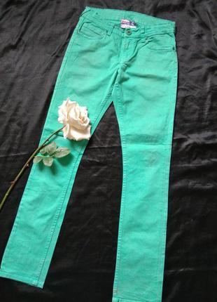 Зелені джинси,стрейч.