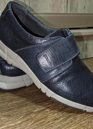 Туфли кожаные,спортивный стиль ,натуральная кожа gosoft