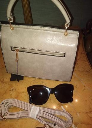 Пудрова зручна сумочка/италия3 фото