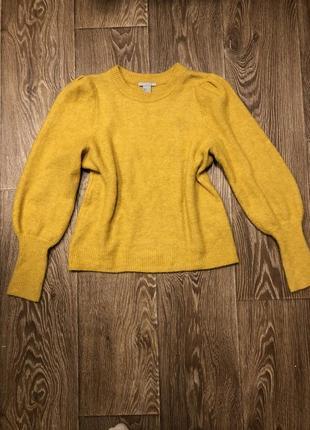 Свитер тёплый свитер с актуальными рукавами джемпер hm