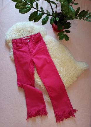 Джинси zara рожеві