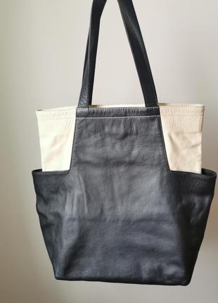 Большая сумка шоппер из натуральной очень качественной кожи