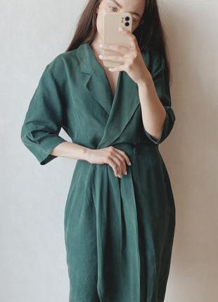 Шелковое платье на запах