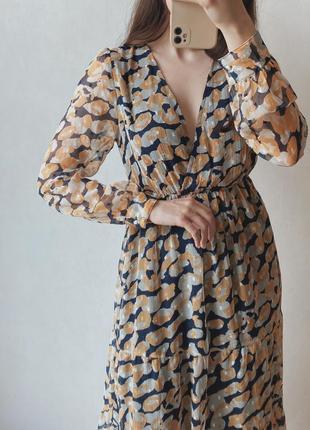 Шифоновое миди платье