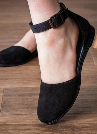 Женские туфли черные valmont