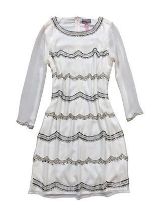 Нарядное, праздничное платье вышитое бисером /платье на свадьбу /платье на роспись