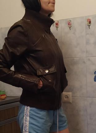 Крутая косуха с карманами и молниями black box