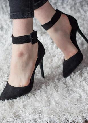 Женские туфли черные fannie