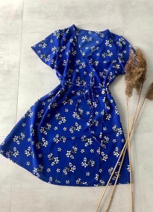 Плаття на запах в квіти