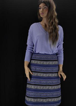 Новая брендовая гобеленовая юбка миди bonmarche. размер uk10/eur38.