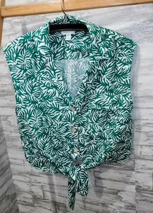Льняная рубашка topshop