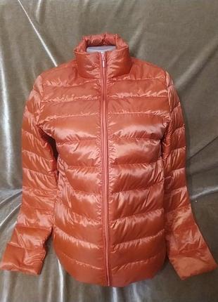 Пуховая тонкая курточка новая рм-l