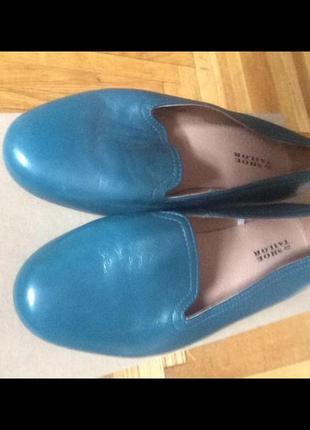 Кожаные балетки на очень широкую ногу
