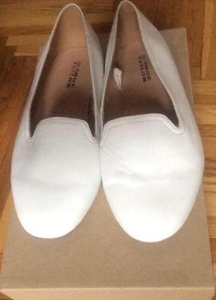 Кожаные туфли балетки лоферы на очень широкую ногу