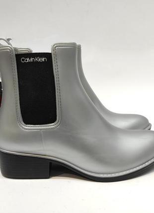 Гумові чоботи calvin klein сірі жіночі