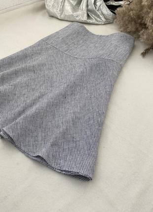Льняная юбка большого размера лен юбка marks & spencer 1+1=3