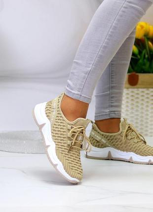 Модные легкие дышащие тканевые текстильные женские кроссовки в разные цвета7 фото