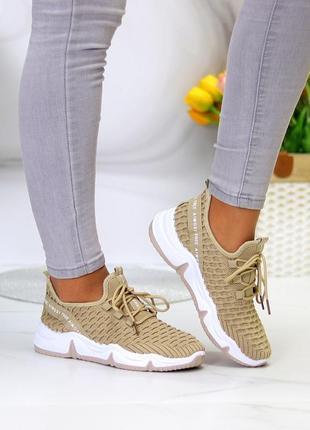 Модные легкие дышащие тканевые текстильные женские кроссовки в разные цвета8 фото