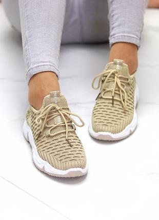 Модные легкие дышащие тканевые текстильные женские кроссовки в разные цвета4 фото