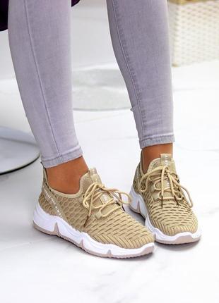 Модные легкие дышащие тканевые текстильные женские кроссовки в разные цвета